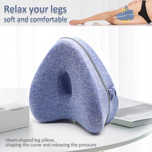 Orthopedic Pillow for Sleeping Memory Foam Leg Positioner Pillows Knee Support Cushion between the Legs for