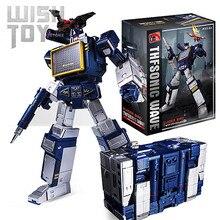 Transformação g1 THF-01J thf01j soundwave uma fita walkman obra-prima ko mp13 oversize liga de ação anime figura robô brinquedos