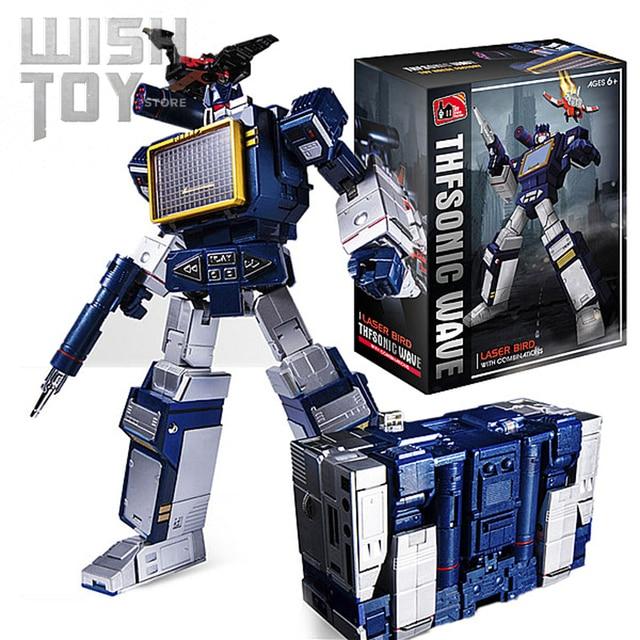 Transformation G1 THF 01J THF01J Soundwave OneเทปWalkman MasterPiece KO MP13อัลลอยด์Oversizeอะนิเมะรูปหุ่นยนต์ของเล่น