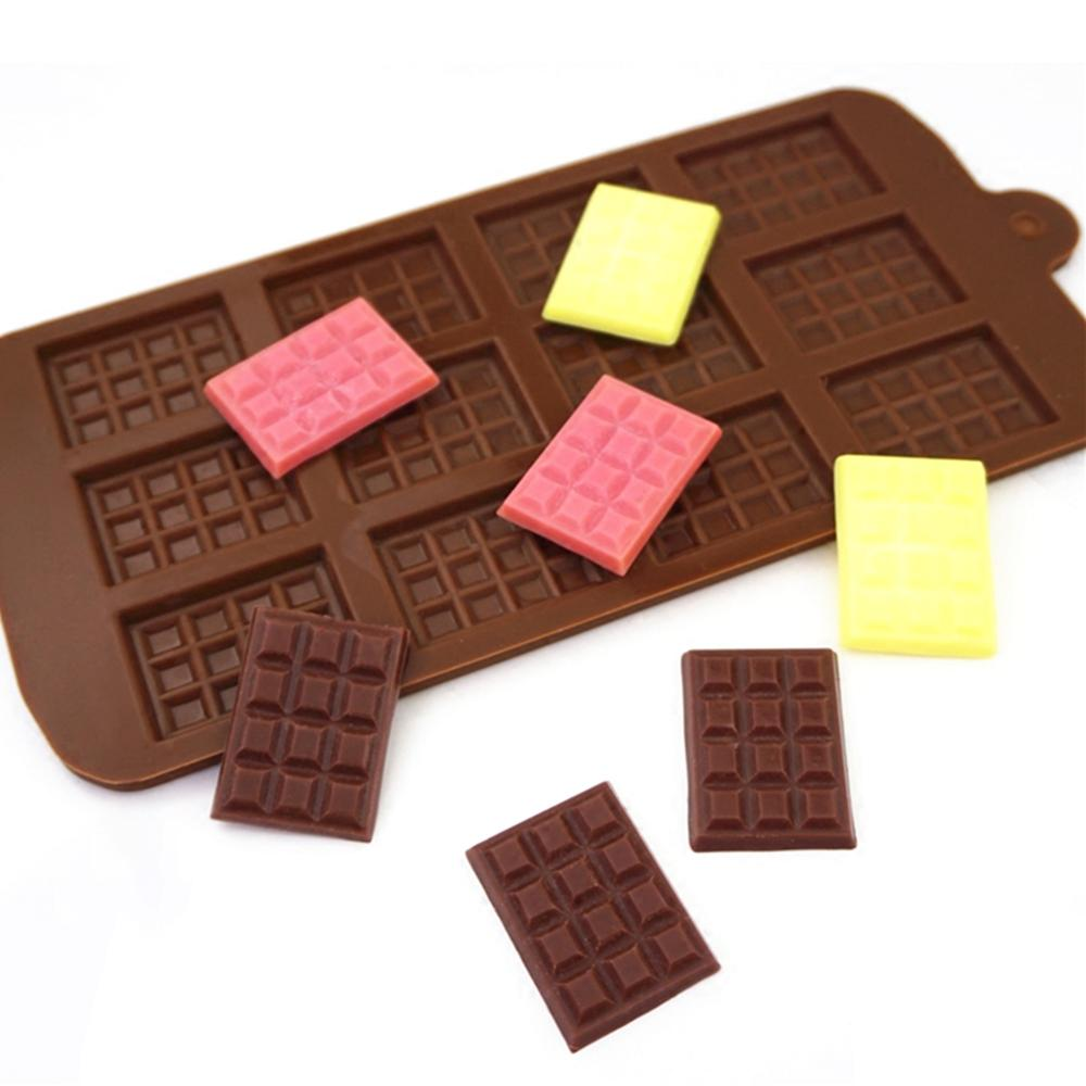 Non-stick Silicone Waffle Mold Chocolate Mold Kitchen Bakeware Cake Mould Makers For Oven High-temperature Baking Set