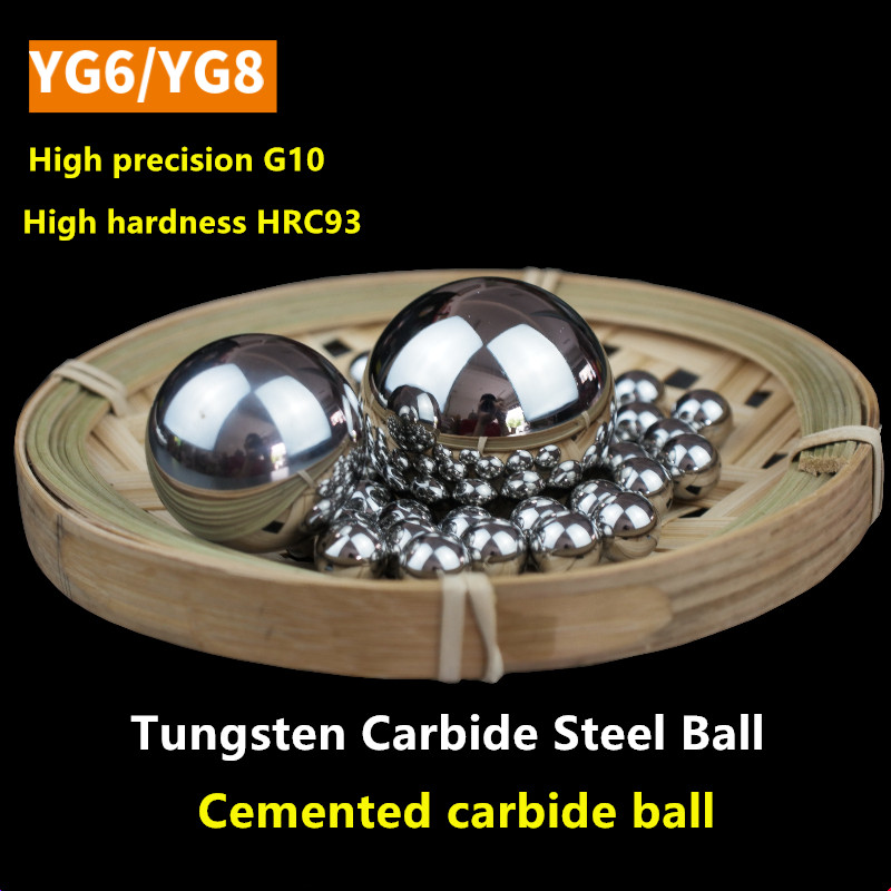 YG6 Tungsten Steel Ball Carbide Alloy Balls YG8 22 23 24 25 26 27 28 29 30 32 35 36 40 42 45 48 50 55 Mm Punching Extruding Ball