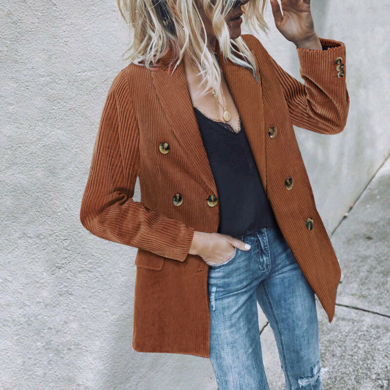 Women's Long Collar Blazer Suit Jackets Ladies Slim Coat Casual Cardigan Outwear Women Button Slim Fit Blazer Casual Work Jacket