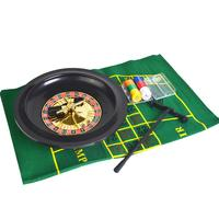 Roulette Wheel Poker Chips Set Fun Leisure Entertainment Table Games for Adults Children