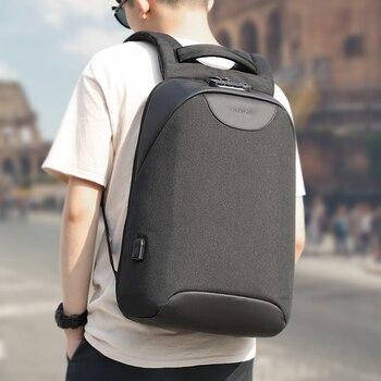 Keine Schlüssel Anti theft TSA Lock Mode Männer Rucksäcke 15,6 zoll USB Lade Laptop Männlichen Mochila 18L College Schule Rucksack für Jungen