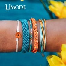 UMODE Vsco Girls Things Bts Friendship Bracelets Set Handmade Daisy Rope Boho Femme Accessories pulseras mujer PB0497