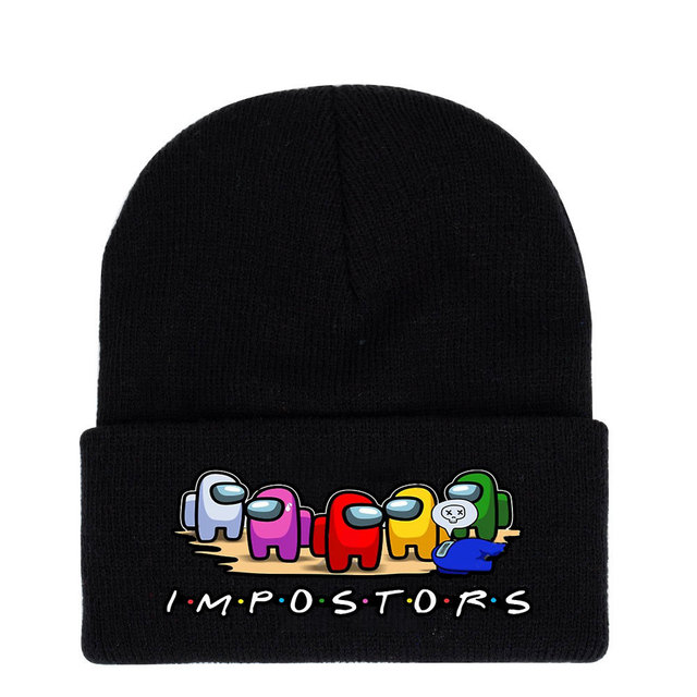 40 style Among Us Game toy Printing Harajuku Hats Women Autumn Warm Street Men Winter Hat Cotoon Fashion Ski Caps For Boys 3