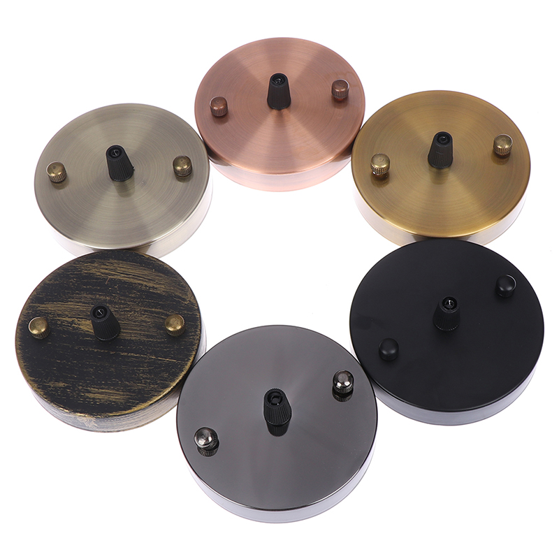 1PCS Lamp Base Antique Vintage Ceiling Plate Metal Ceiling Holder Lamp Fitting Chandelier Base DIY Lighting Accessories