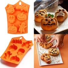 Силиконовая форма на Хеллоуин печенье с помадкой форма для выпечки кухонный инструмент для выпечки Хэллоуин Декор шоколадный Фадж форма тыквы Прямая поставка