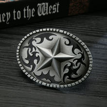Western cowboy belt buckle five-pointed star fashion pattern belt buckle unisex fashion trend belt buckle birthday banquet gift(China)