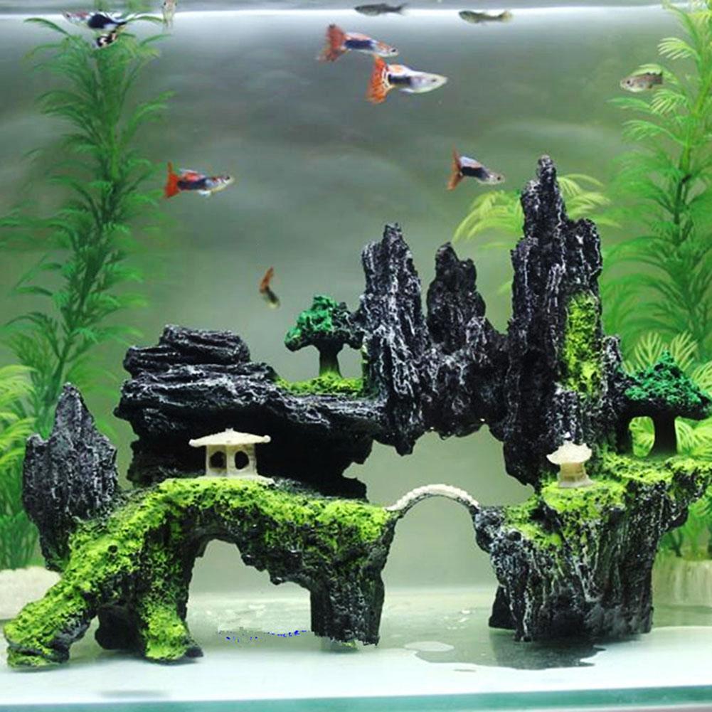 Искусственная смола, имитация горы, искусственная Гора, аквариум, аквариум, Ландшафтные украшения, товары для домашних животных 2021