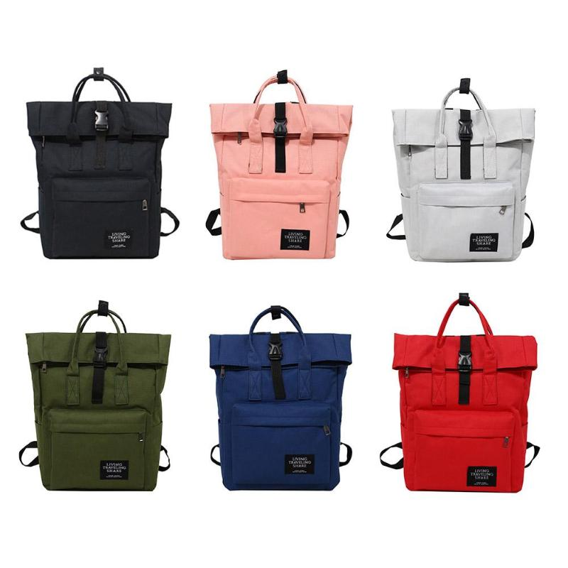 Women Canvas Backpack Preppy Large Capacity Shoulder Bag Travel School Bags