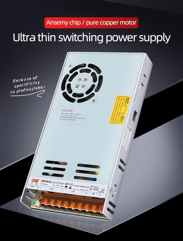NVVV 110 v/220 v a 12v 24v fuente de alimentación conmutada led/lámpara led con adaptador de corriente ac/dc nueva serie LRS Fuente de alimentación de tira impermeable ultrafina LED IP67 45 W/60 W/100 W/120 W/150 W/200 W/250 W/300 W transformador 175V ~ 240V a DC12V 24V