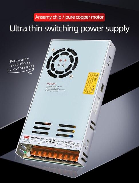 NVVV تحويل التيار الكهربائي 35 واط 50 واط 75 واط 100 واط 150 واط 350 واط LRS سلسلة رقيقة جدا LED سائق التيار المتناوب 110 فولت 220 فولت إلى 12 فولت 24 فولت تيار مستمر امدادات الطاقة