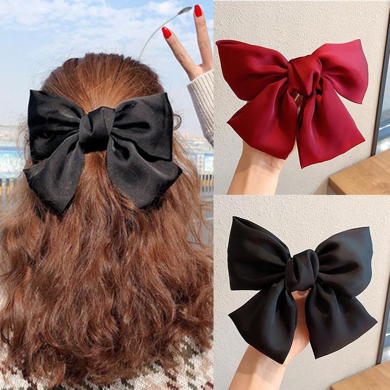 Diadema con lazos grandes para niña y mujer, bandanas elásticas de tela, accesorios para el cabello, accesorios coreanos para el cabello, 2020