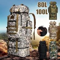 Borsa da alpinismo 80L/100L borsa da arrampicata zaini tattici militari zaino grande escursionismo all'aperto borse da viaggio da campeggio
