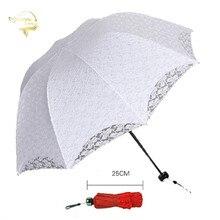 2020 ฤดูร้อนพับลูกไม้ร่มเหล็กผ้าฝ้ายเย็บปักถักร้อยลูกไม้ Parasol Sun Umbrella งานแต่งงานตกแต่งเจ้าสาวร่ม