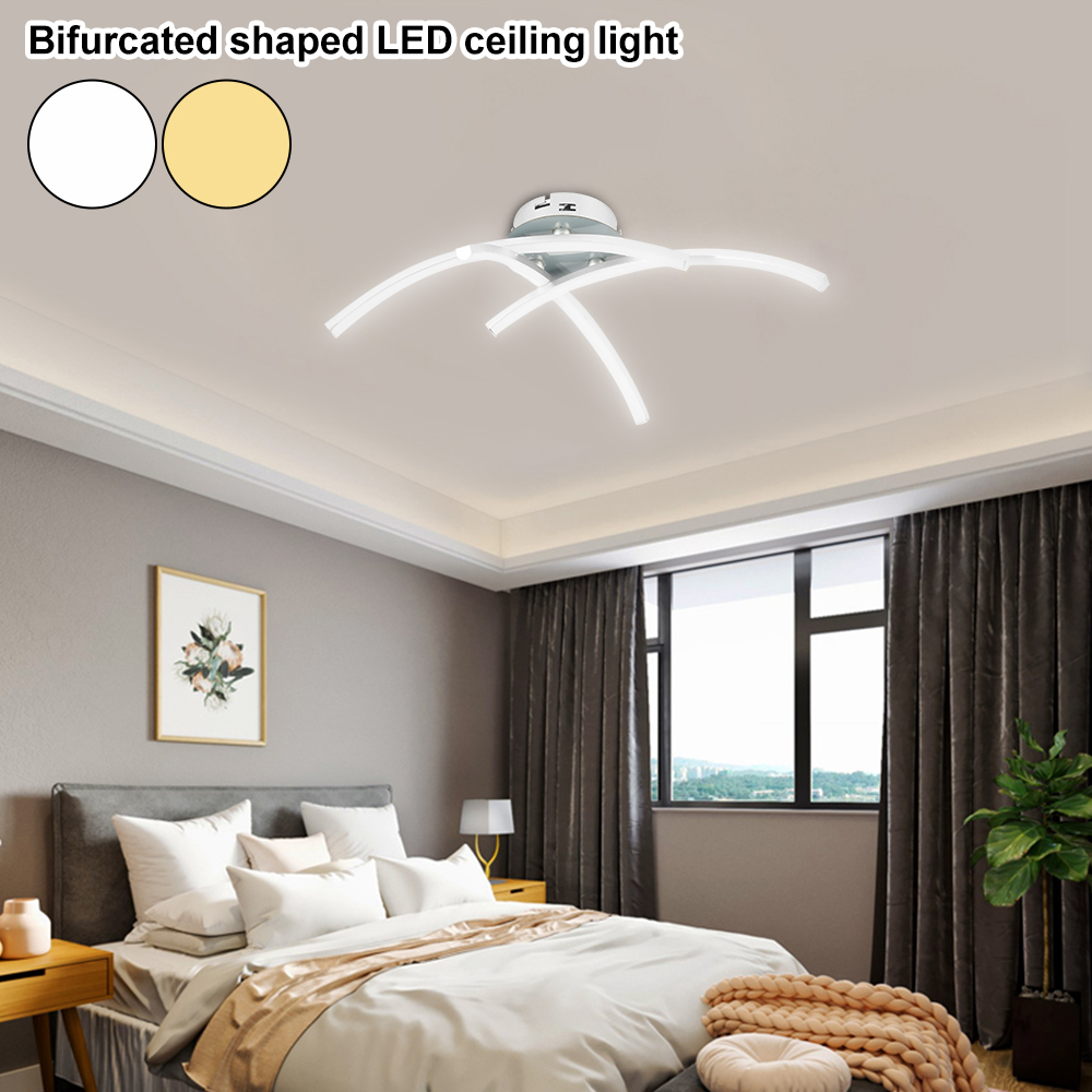 H5aa29d3104ad43e98df16f8ff3f33c385 Strange LED Ceiling Lights Fork Embedded 21W 3000K White/Warm White Home Lighting Living Room Bedroom Decor Lamp