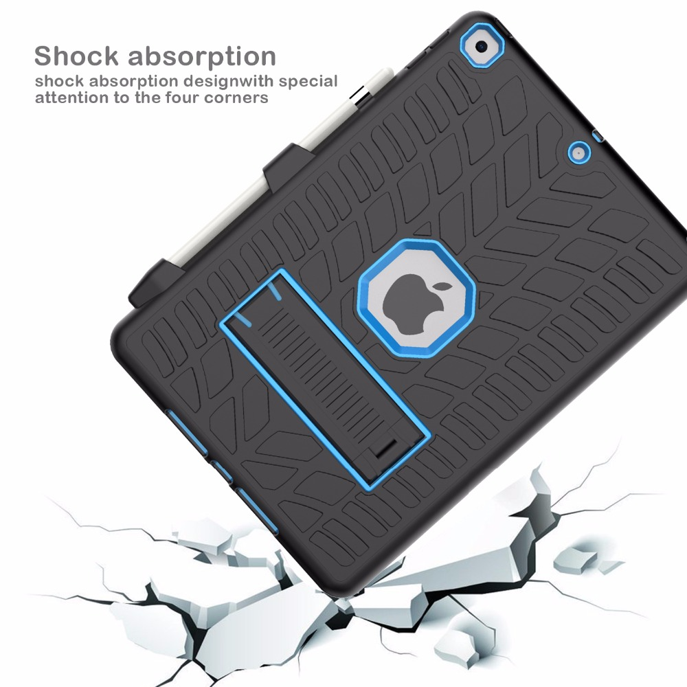 Generation Pattern Tire Hard Case Holder Shockproof with For 8th iPad 10.2 2020 Pencil
