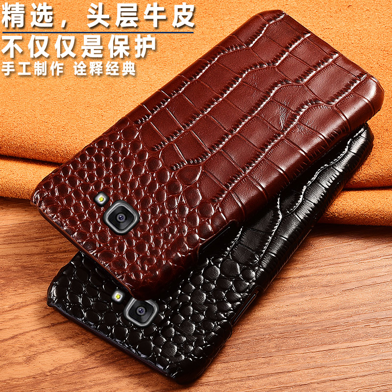Top Genuine Cow leather <font><b>Phone</b></font> Back <font><b>Case</b></font> Cover For <font><b>Samsung</b></font> Galaxy A3 <font><b>A5</b></font> A7 A8 <font><b>2016</b></font> 2017 2018 Crocodile Grain <font><b>Case</b></font> Luxury Cover image