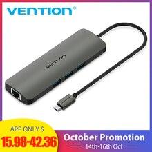 Vention USB-C HUB Type C HUB to USB 3.0 Thunderbolt 3 HDMI 3.5mm Audio