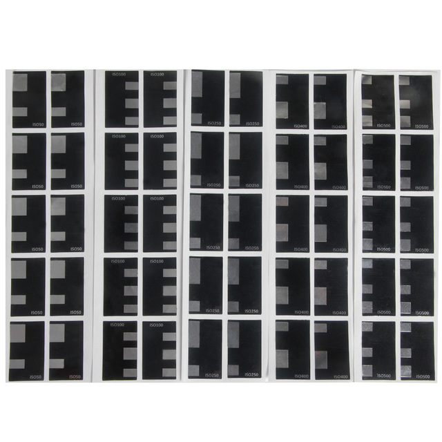 10 sayfa 135 35mm dökme Film DX kod ISO 50 100 250 400 500 etiket el rulo etiket otomatik ISO tespit