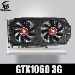 بطاقة جرافيكس من VEINEDA طراز GTX 1060 بسعة 3 جيجابايت و19 بت وgddr5 وبطاقة فيديو من وحدة معالجة الرسومات PCI-E 3.0 لألعاب سلسلة nVIDIA gefront أقوى من GTX 1050Ti