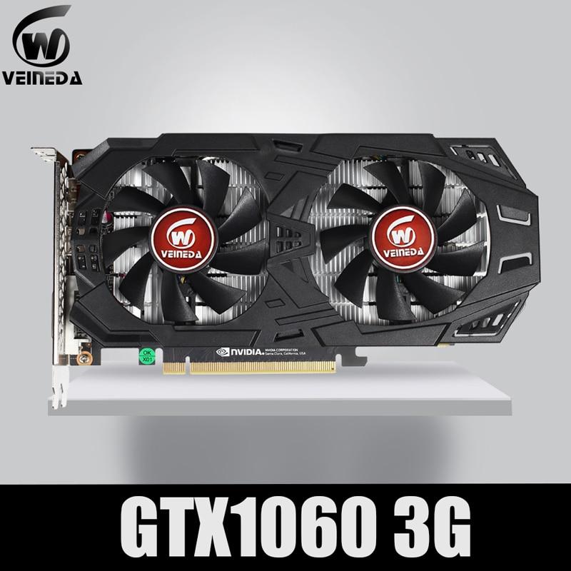 VEINEDA Graphics Card GTX 1060 3GB 192Bit GDDR5 GPU Video Card PCI-E 3.0 For NVIDIA Gefore Series Games Stronger Than GTX 1050Ti