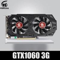 VEINEDA Graphics Card GTX 1060 3GB 192Bit GDDR5 GPU Video Card PCI E 3.0 For nVIDIA Gefore Series Games Stronger than GTX 1050Ti