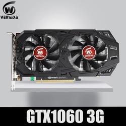 Veineda Kartu Grafis GTX 1060 3GB 192Bit GDDR5 GPU Video Kartu PCI-E 3.0 untuk NVIDIA Gefore Seri Permainan Lebih Kuat dari GTX 1050Ti