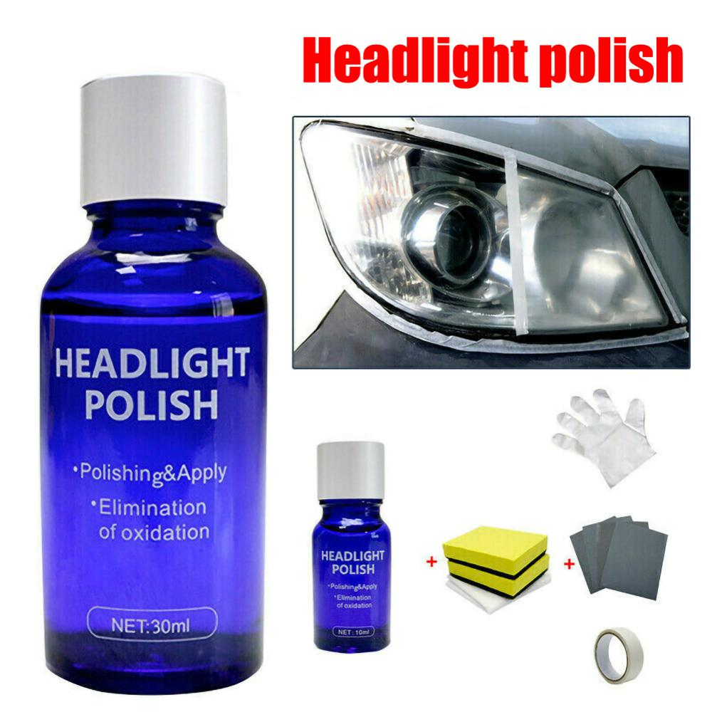 10/30ml Car Hardness Headlight Lens Restorer Repair Liquid Polish Auto Light Polishing Repair Coating Agent Set