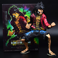 ONE PIECE Large Size Monkey D Luffy Anime Color Rubber Gun Plastic Man Anime GK PVC Action Figure Collection Model Toy M2410