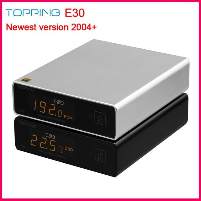 Topping E30 Hi Res 32Bit/768kHz DSD512 DAC AK4493 DAC Chip Support USB/Optical/Coaxial input compact and elegant DAC