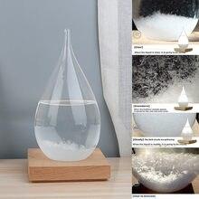 Previsão do tempo transparente garrafa de gotículas tempestade de vidro gota de água previsão do tempo monitor garrafa barômetro casa deco