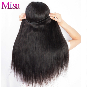 Image 5 - Mi Lisa 3 Bundles With Frontal Malaysian Straight Hair Weave Remy Human Hair Bundle and 13x4 Lace Frontal Closure with Bundles
