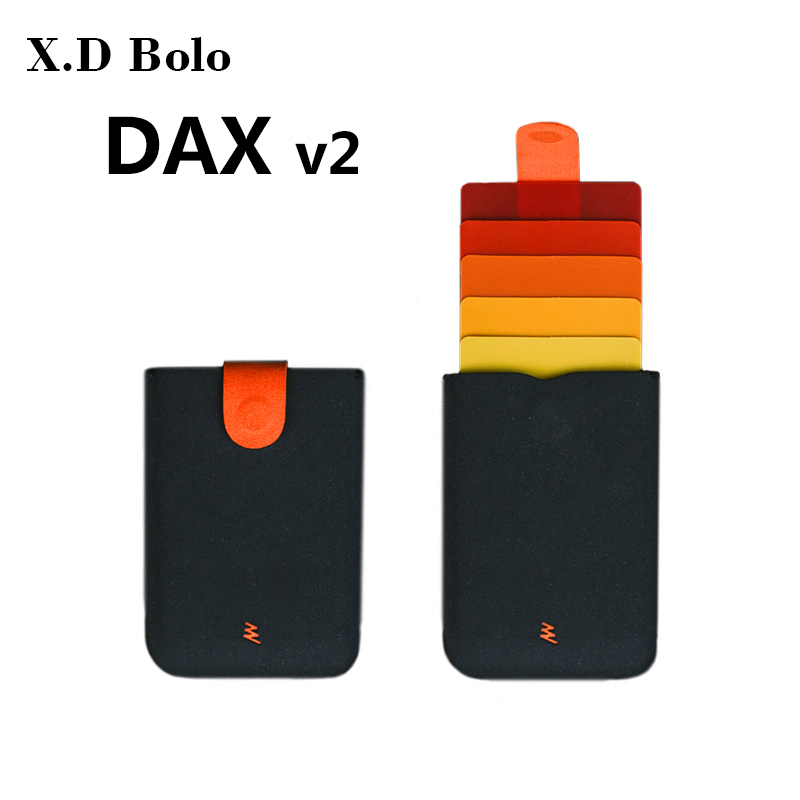 New DAX V2 Mini Card Holder Slim Portable Paper Holder Business Cards Case 5 Cards Short Money Women Purse Men Wallet