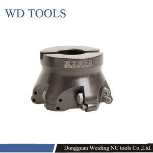 Image 3 - RPMW Rotonda Inserti in metallo duro faccia mill holder EMR 5R 6R 50 63 80 4T 5T 6T fresa fresatura cnc strumenti