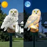 Novità Luci Del Giardino Solare Del Gufo Ornamento Animale Uccello Outdoor Led Della Decorazione di Scultura All'aperto Yard Garden Creativo Lampade Solari