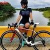 Kafitt Pro equipe triathlon terno das mulheres Macacão de manga curta Camisa de ciclismo Skinsuit Maillot Vestuário ciclismo ciclismo setgel 1