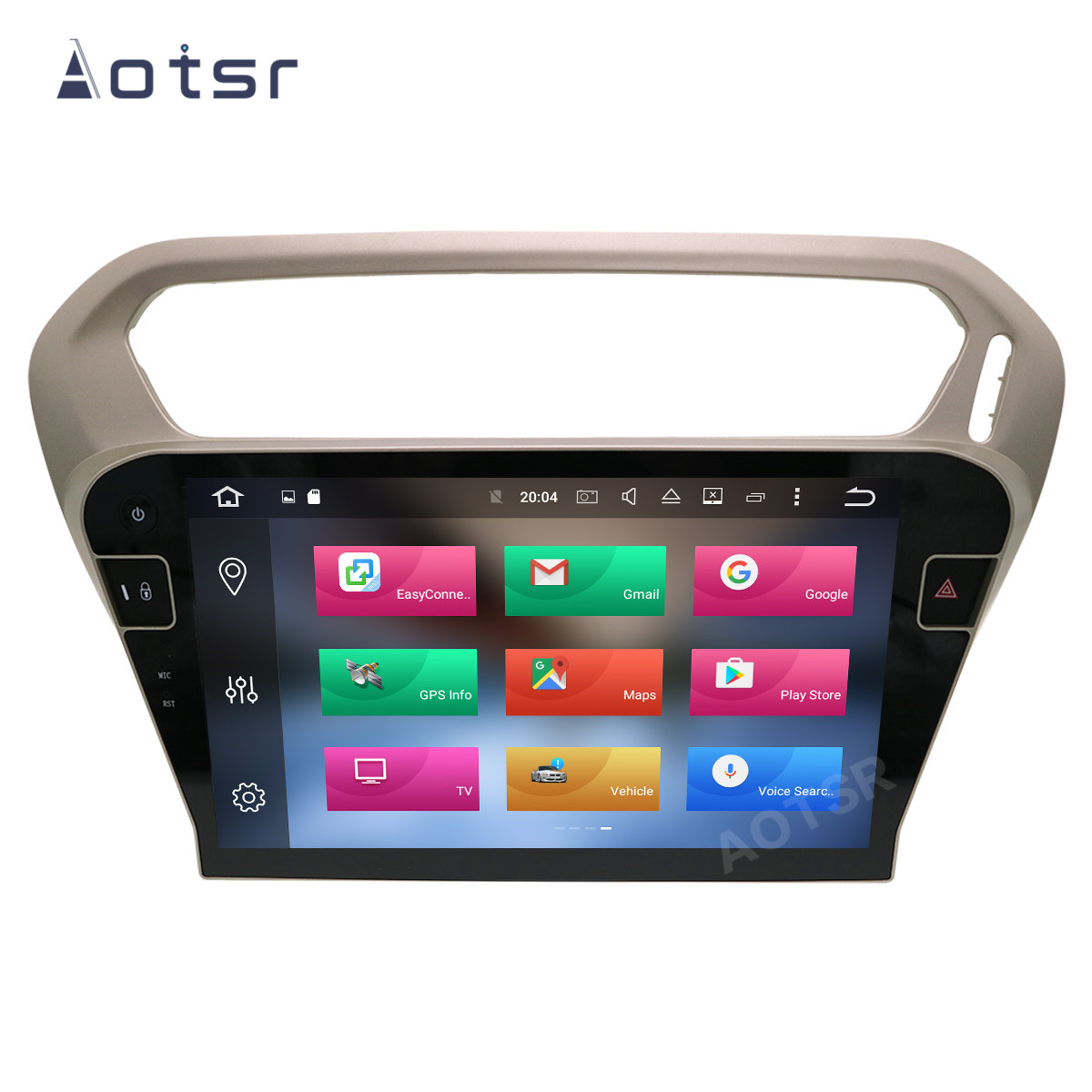 AOTSR 2 Din Android 10 Car Radio For <font><b>Peugeot</b></font> <font><b>301</b></font> 2013 - 2016 Multimedia Player Auto GPS Navigation DSP IPS Carplay AutoRadio image