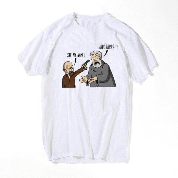 Мужские футболки из сериала «во все тяжкие» 2021, повседневные мужские футболки Hodor Heisenberg, хлопковая Футболка Swag, мужские топы, топы с надписью...