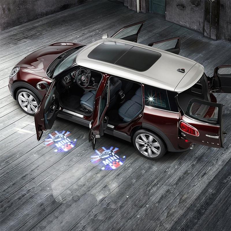 Двери автомобиля светодиодная прожекторная лампа Лазерная Добро пожаловать светильник для BMW MINI COOPER S JCW F54 F55 F56 F60 R56 R60 CLUBMAN Тюнинг автомобиле...