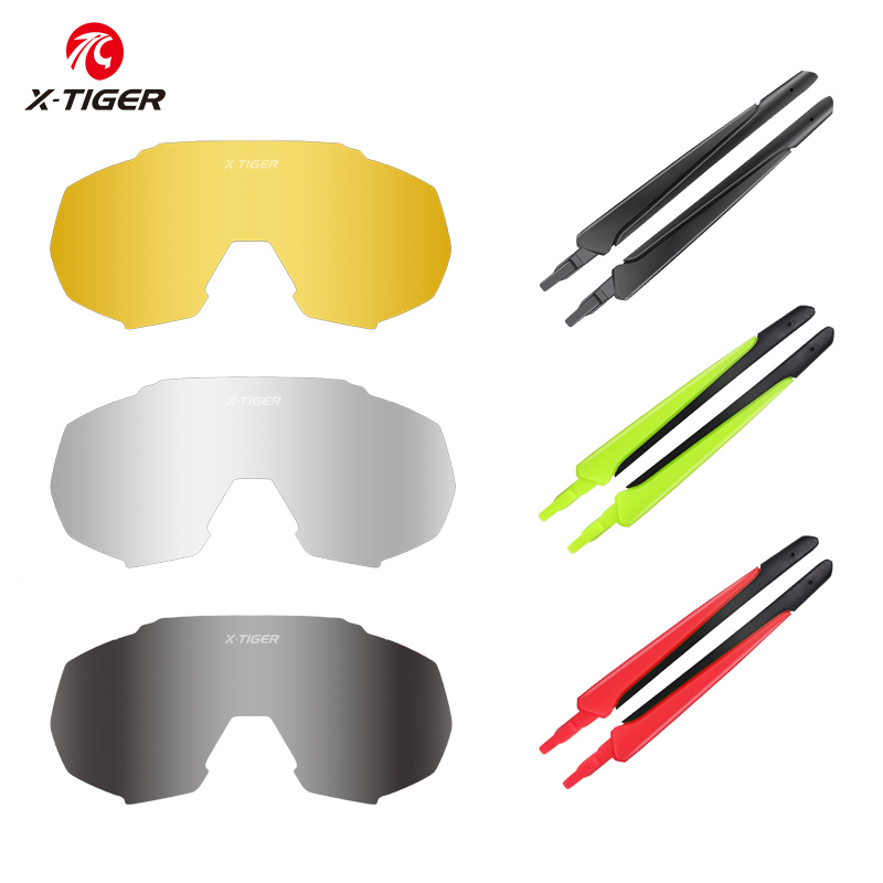X-TIGER JPC Cycling Glasses Accessories Replacement Lense Myopia Frame Photochromic Lens Bike Sunglasses Feets Polarized Lens