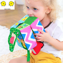 Baby hand bell sponge multifunctional baby rattle plush toy early education soft building blocks puzzle  toys for children