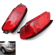 Car LED Rear Bumper Light Left/Right Brake Tail Reflector Fog Light Fog Lamp Turn Signals For Lexus RX300 RX330 RX350 2003-2008 cha for lexus 2009 up rx270 rx300 rx350 rx450h led tail lamp rear light