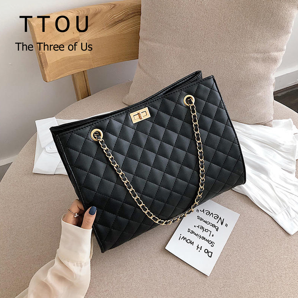 Luxury Designer Chain Pu Leather Women Messenger Bags Solid Color Crossbody Bags For Women 2020 Channels Handbags Sac A Main