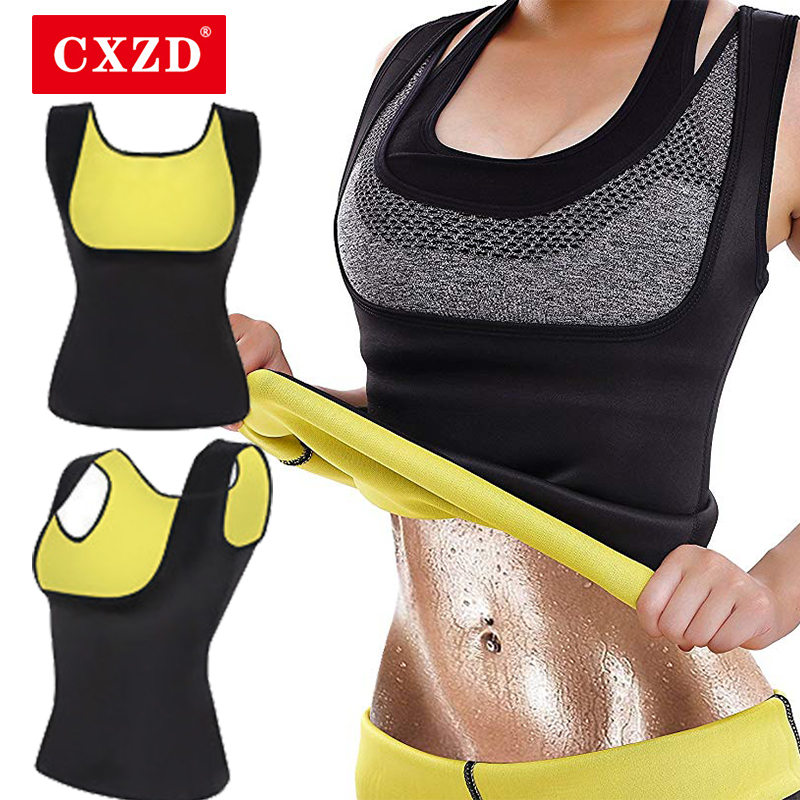 CXZD Women Body Shaper Tummy Fat Burner Sweat Tank Top Weight Loss Workout Shapewear Neoprene Sauna Waist Corset