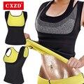 CXZD женская корректирующая одежда для живота, жиросжигатель, майка для похудения, потеря веса, моделирующее белье для тренировок, неопреновы...