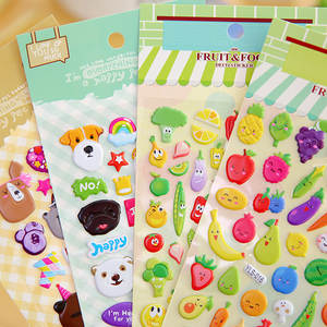 Puffy Sticker Toys Unicorn Bubble Fruit-Number Girls Cartoon-Animals Children DIY Kawaii