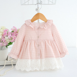 Image 4 - 2020 Spring A line Peter Pan Collar Kids Baby Princess Dress Newborn Infant Baby Girls Party Dresses Baby Clothes 0 2T 2 Color