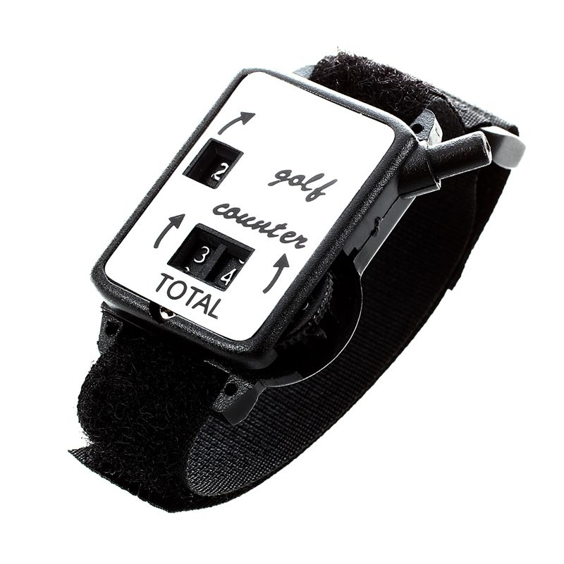 Reloj contador de tiro con correa negra para reloj de pulsera Agarre del palo de Golf Universal antideslizante Grips Wrap accesorios de entrenamiento para palos de Golf de hierro palos de madera
